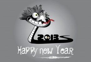 новый год, 2013, змея, черная