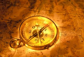 компас, карта, клад