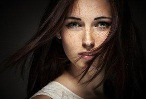 глаза, девушка, красивая, взгляд