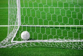ворота, мяч, поле, травка, сетка, футбол
