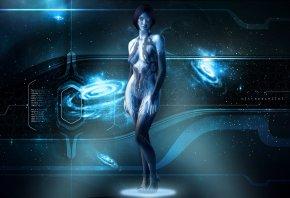 Halo 4, Cortana, Xbox 360, Голограмма