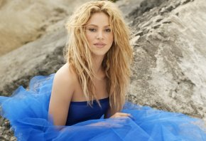 Shakira, Шакира, певица, платье, блондинка
