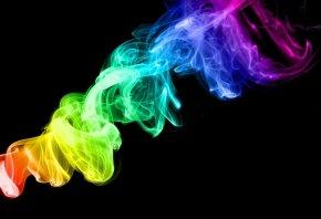 цвета, радужный цвет, радуга, Дым
