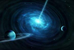 планеты, звезды, черная дыра, космос