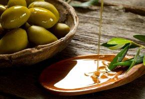 ветка, масло, стол, лопаточка, листья, оливка, Плошка