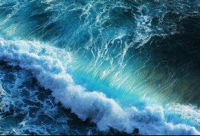 Обои море, волны, брызги, пейзаж