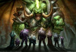 Обои World of Warcraft, WoW, Герои, Воины, Демон