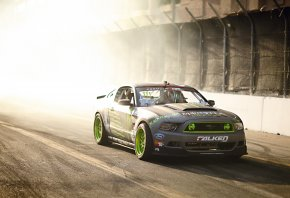 ���� Ford, Mustang, GT, TG-500, Drift, Tuning, Sportcar, Falken, Monster Energy, Team, Competition, Smoke, Sun