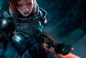 Mass Effect 3, Shepard, FemShep, ������, �����, ����, game