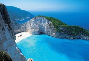 скалы, пляж, море, мечта, лагуна, бухта