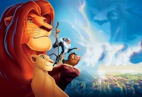 облака, Король лев, фильм, скала, животные, львица, обои