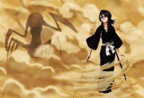 bleach, rukia, smoke, hollow