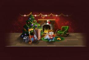 christmas, surprise, праздник, елка, подарки