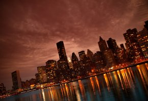 manhattan, nyc, reflections, ���������, ����, ������