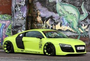 ауди, зелёный, Xxx performance, суперкар, r8, р8, audi