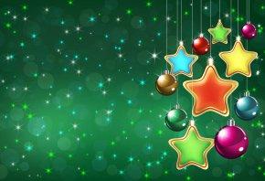 Обои Новый год, елочные игрушки, праздник