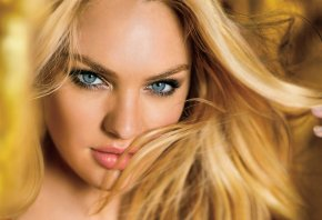 Candice Swanepoel, девушка, глаза, голубые, волосы
