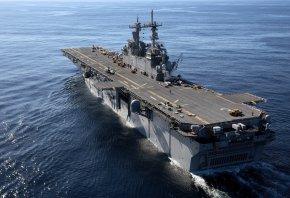 Обои USS Kearsarge, авианосец, оружие, корабль