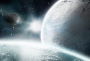 циклон, спутник, атмосфера, звезда, Космос, планеты