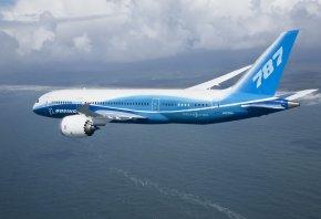 боинг, 787, полёт, dreamliner, Boeing, облака