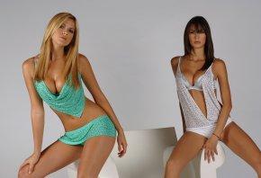 Мелисса Сатта, Таис Виггерс Соуза, Melissa Satta, Thais Wiggers Souza, девушки, красотки, модели, секси, sexy, блондинка, брюнетка, лицо, грудь, талия
