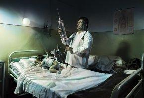 ребёнок, доктор, укол, шприц