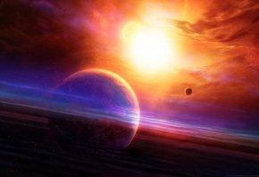 nebula, звезда, свет, планета, space, planet, Космос