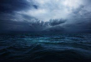 Индийский океан, небо, облака, шторм, зима