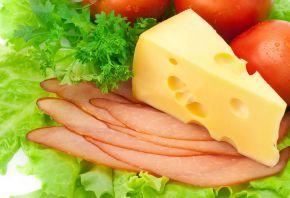 сыр, мясо, помидоры, салат, блюдо
