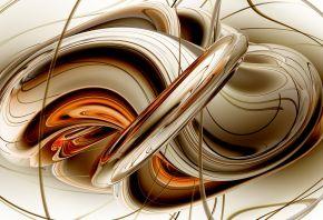 линии, кольца, отражение