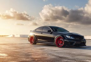 mercedes c63, black series, AMG, мерседес, купе