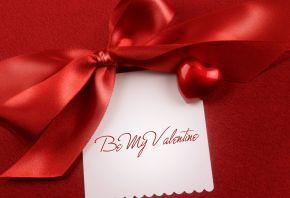 valentine's day, 14 февраля, день святого валентина, текст, ткань, надпись, бант, сердечко