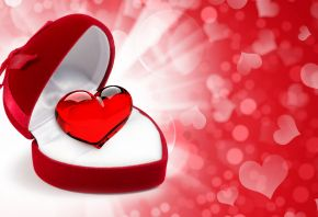 валентинка, коробочка, сердце, признание