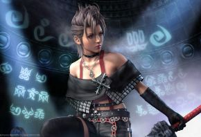 Обои Final Fantasy, девушка, FF10, меч
