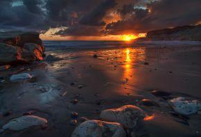 Обои пейзаж, природа, восход, рассвет, солнце, небо, облака