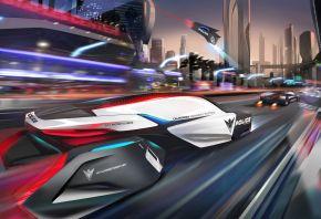 Обои BMW, 2025, будущее, город, дорога, полиция