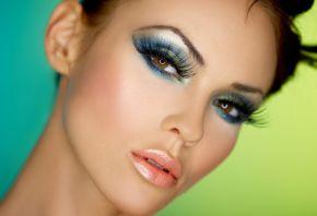 девушка, глаза, взгляд, ресницы, лицо, макияж