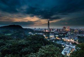 тайвань, тайбэй, кнр, китай, город