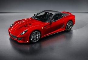 Ferrari, 599 GTO, спорткар, красный