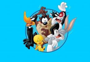Looney Tunes, Багз Банни, Даффи Дак, Тасманский дьявол, Твити