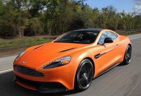 Aston Martin, Vanquish, передок, скорость