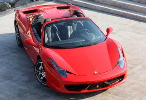 Ferrari, Spider, �������, red, �������, ����