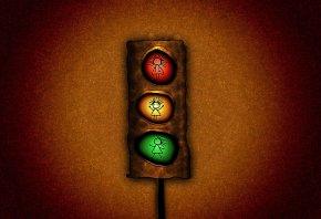 светофор, красный, желтый, зеленый