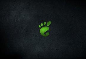 минимализм, след, зелёный, отпечаток