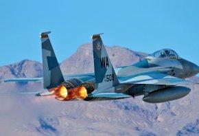 f15, самолёт, оружие, сопло