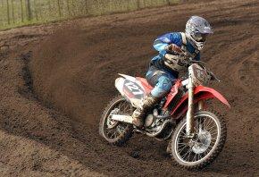 Обои гонки, мотоцикл, мотоспорт, грязь