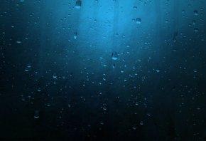 синий, капли, Текстура, цвет, вода