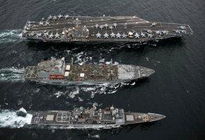 Авианосец, корабли, военные, вода