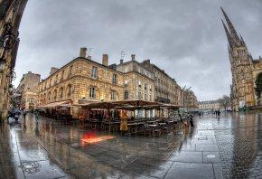 France, Франция, мокро, кафе