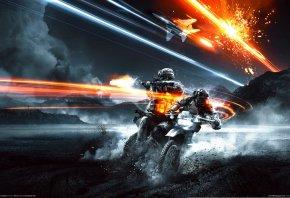 Battlefield 3, Истребитель, Внедорожный Мотоцикл, Морпехи